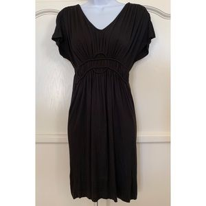 Jacob Short Sleeve Knit Black Dress